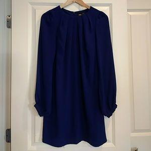 Asos dark blue chiffon dress